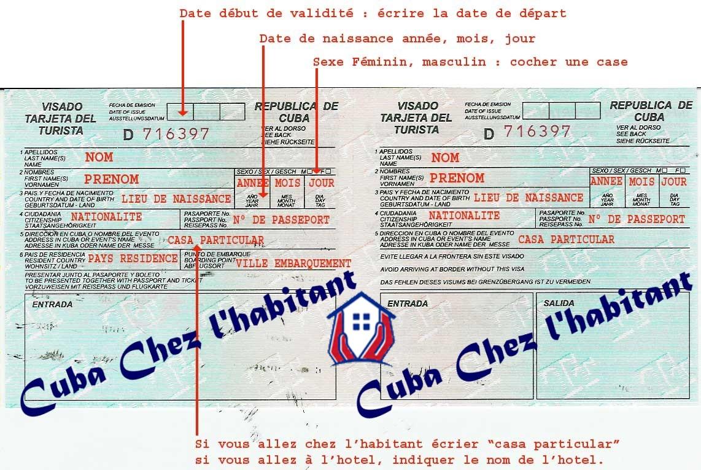 Carte Bancaire Cuba.Carte De Tourisme Cuba